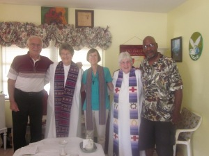 Good Shepherd Pastors Judy B and Judy L with Rev. Judith McKloskey And Church Leaders Hank Tessandori and Harry Gary